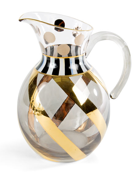 MacKenzie-Childs Tango Glass Pitcher