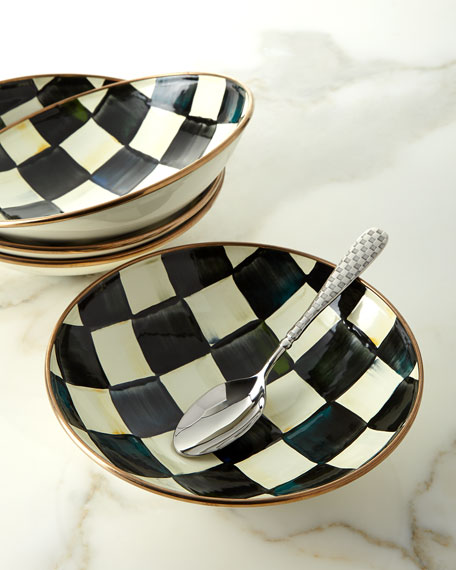 Courtly Check Enamel Soup Coupe