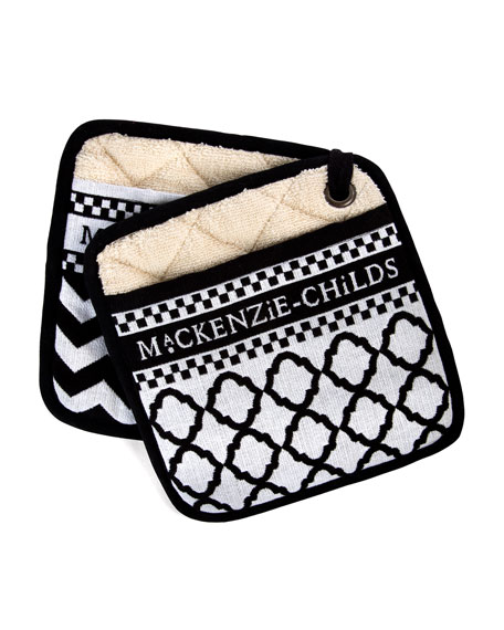 Black & White Zigzag Pot Holders