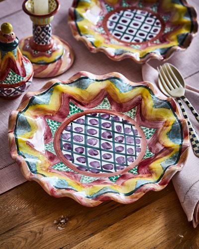 Taylor Fluted Keukenhof Dinner Plate