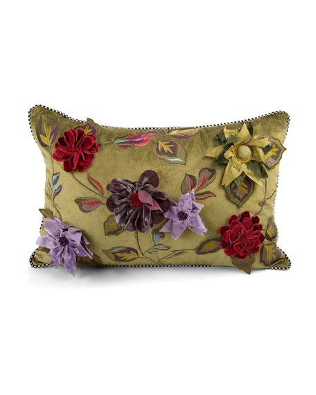 Greengage Floral Lumbar Pillow