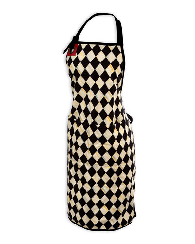 Courtly Harlequin Bistro Apron