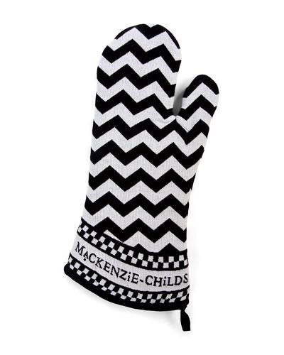 Black & White Zigzag Oven Mitts