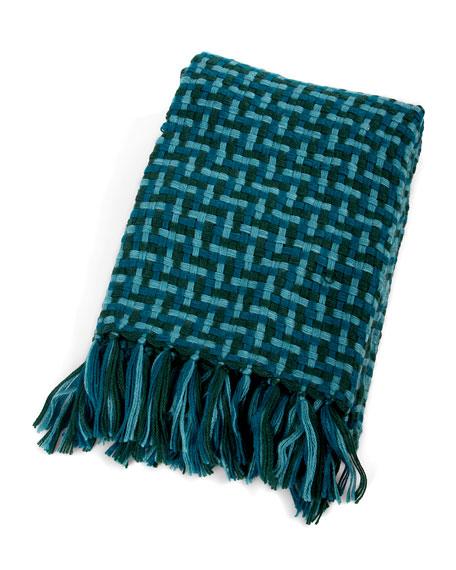 MacKenzie-Childs Basketweave Throw Blanket
