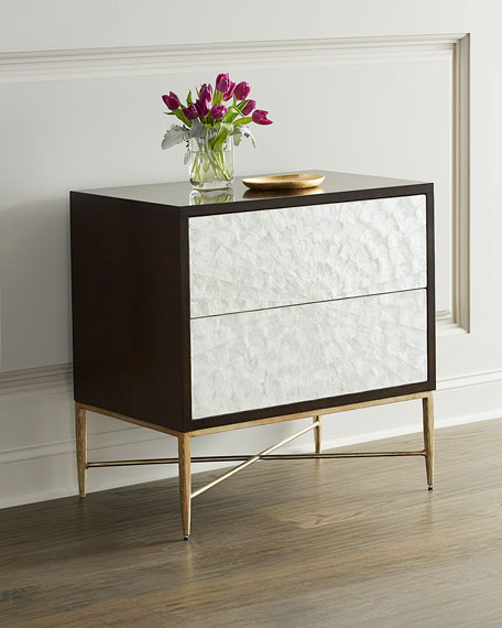 Adagio Night Stand with Inlaid Capiz Shell