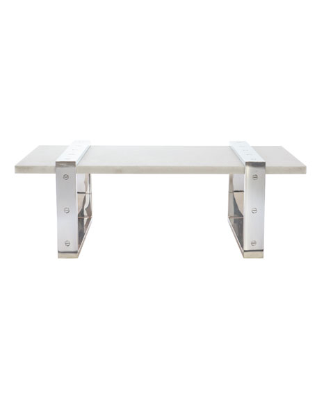 Bernhardt Georgina Stone-Top Coffee Table