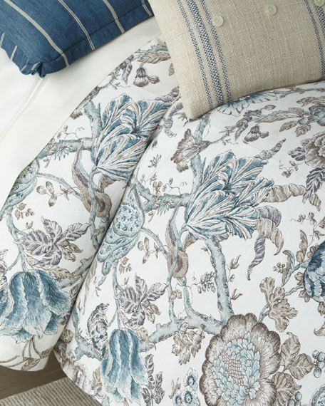 French Laundry Home Lauren Print Queen Duvet