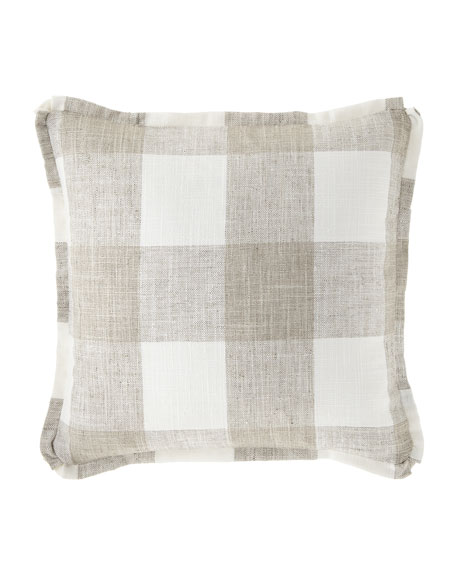 French Laundry Home Buffalo Plaid Flat-Flange Pillow