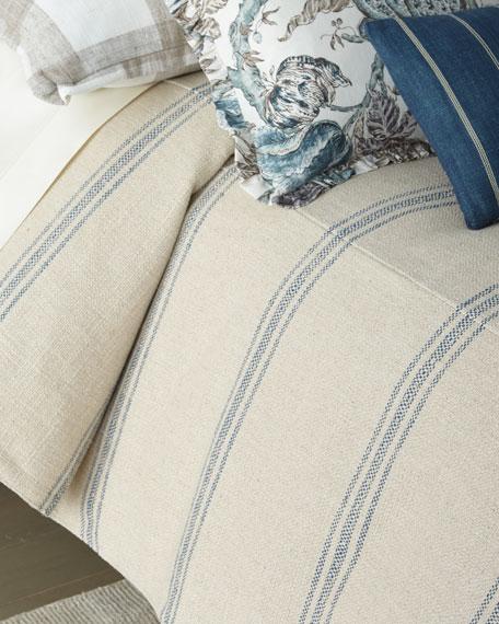 French Laundry Home Lauren Stripe Queen Coverlet