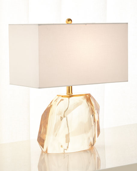 Faceted Blush Lamp