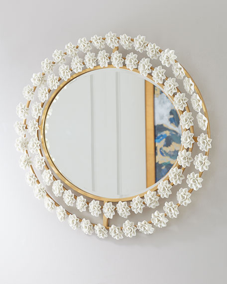 Porcelain Flower Mirror