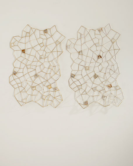 Agate Rock Crystal Geometric Wall Decor