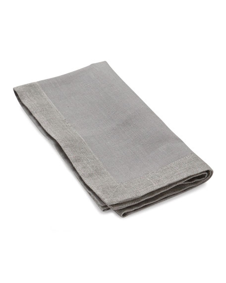 Slate Dinner Napkin with Metallic Flange
