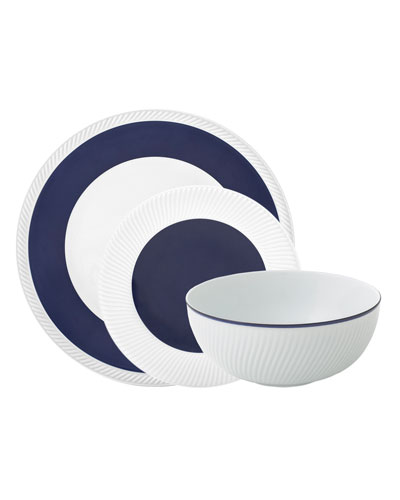 Twist 3-Piece Place Setting  Midnight