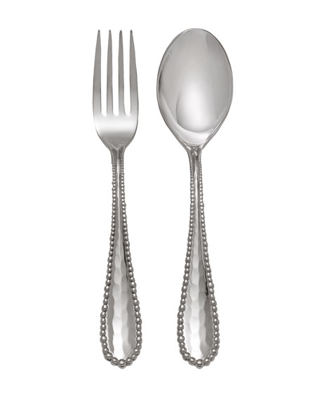 Molten Serving Set, Silver