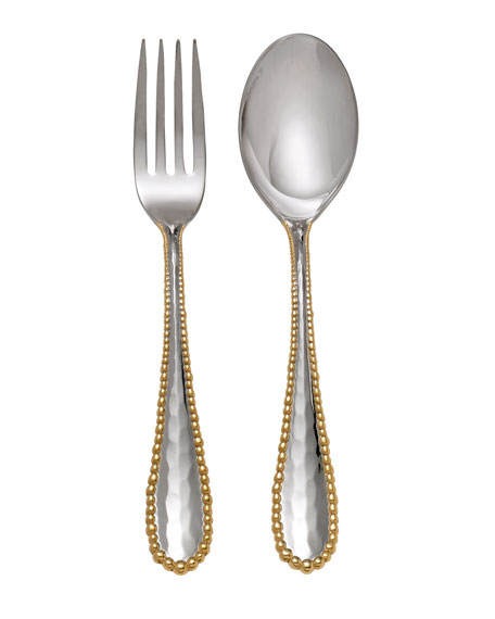Molten Serving Set, Gold