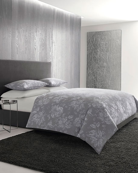 Transparent Leaves King Duvet Set