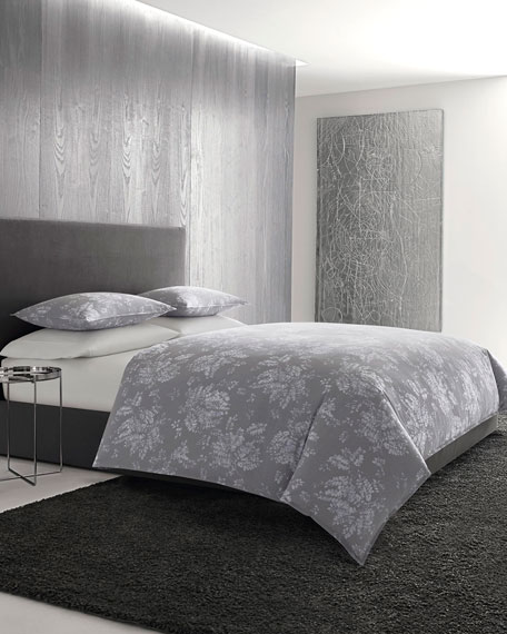 Transparent Leaves King Comforter Set