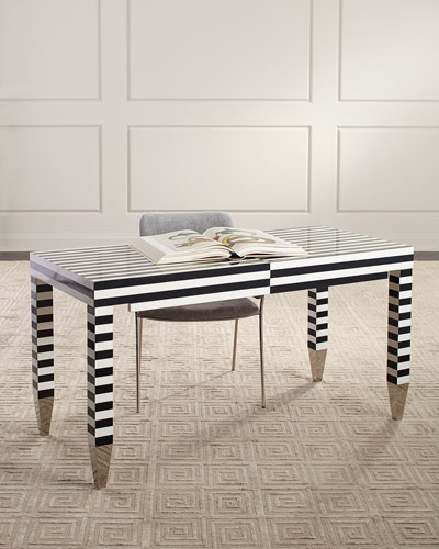 Kayden Striped Writing Desk