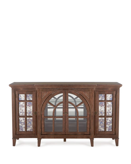 Hamilton Antiqued Glass Buffet