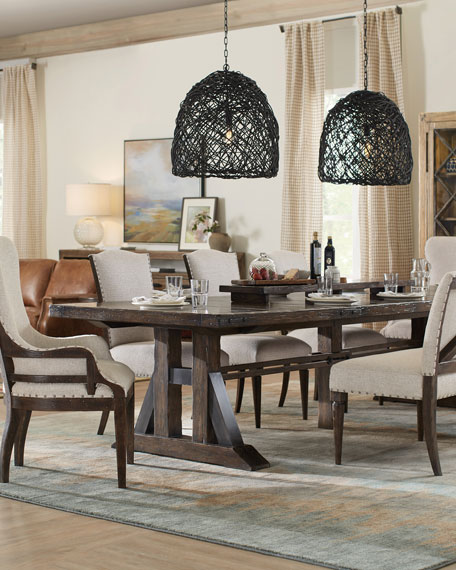 Dorianne Trestle Dining Table with 2 Leaves