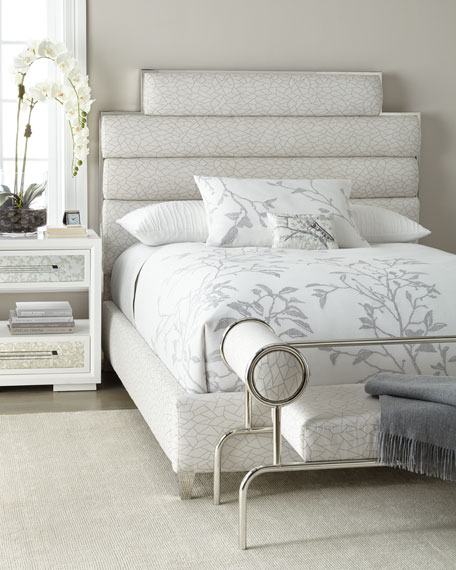 Paloma Channel-Tufted Queen Bed