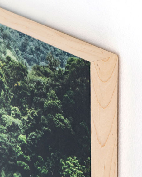 """Waterfall"" Photography Print on Maple Box Framed Art"