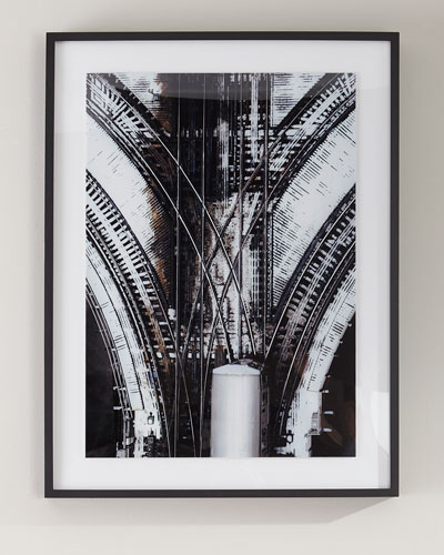 Train Tracks Photography Print on Photo Paper Framed Art