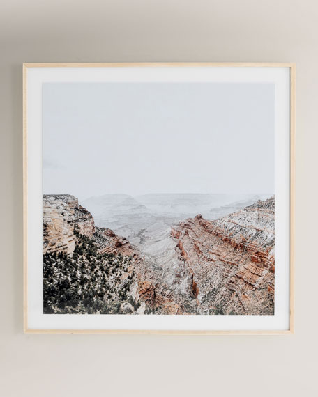 """Canyon"" Photography Print on Photo Paper Framed Wall Art"