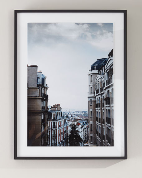 """Paris"" Photography Print on Photo Paper Framed Art"