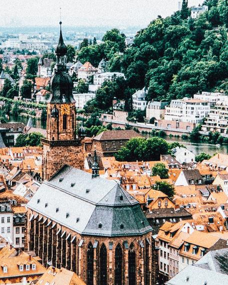 """Heidelberg, Germany"" Photography Print on Maple Box Framed Wall Art"