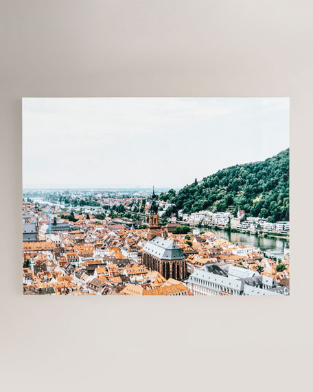 """Heidelberg, Germany"" Photography Print on Maple Box Framed Wall Art"