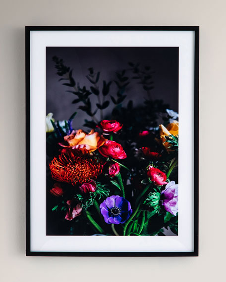 """Bouquet II"" Photography Print on Photo Paper Framed Wall Art"