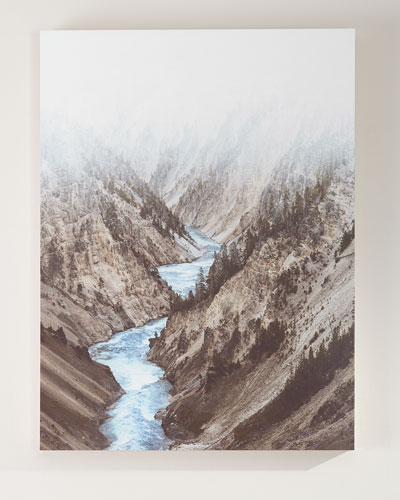 Mountain River Photography Print on Maple Box Art
