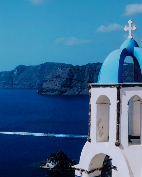 """Greece II"" Photography Print Framed Art"