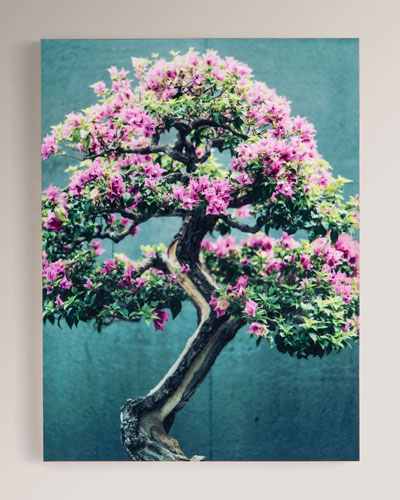 Purple Tree Photography Print on Maple Box Framed Wall Art