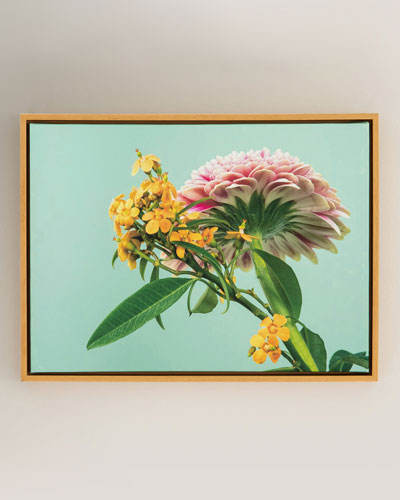 Yellow & Pink Photography Print on Canvas Framed Wall Art