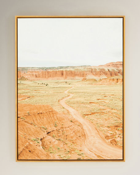 """Long Road Ahead"" Photography Print on Canvas Framed Wall Art"