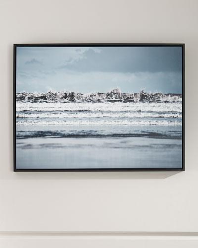 Crashing Framed Photography Art Print on Canvas