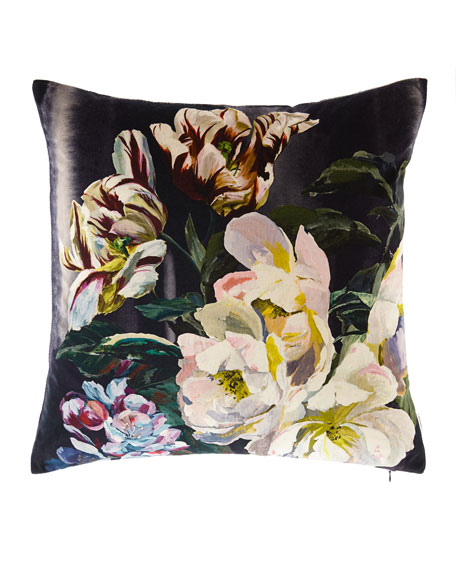 Delft Flower Pillow