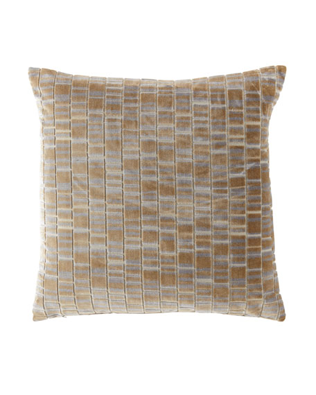 Artemis Brass Knife-Edge Pillow