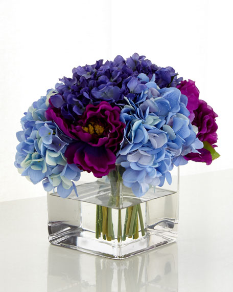 Purple Haze Faux Floral Arrangement