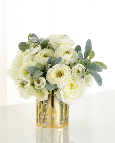 Circles of Gold Faux Floral Arrangement
