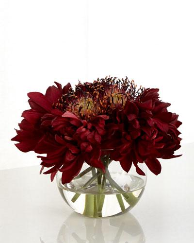 Dahlia Dream Faux Floral Arrangement