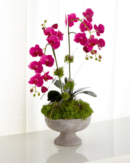 Crystal Orchids Faux Floral Arrangement
