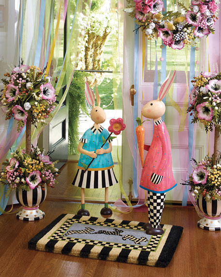 Pink Poppy Topiary