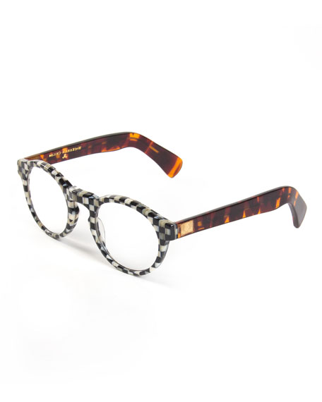 MacKenzie-Childs Courtly Check Round Readers, +3