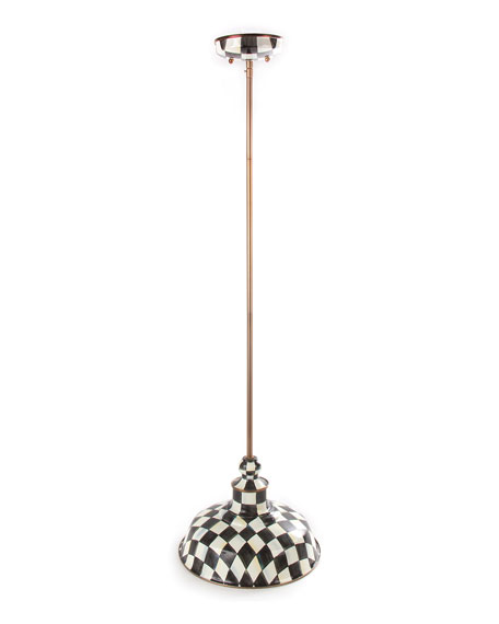 Courtly Check Barn Pendant Lamp, 12""