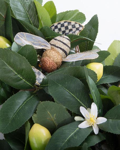"""Queen Bee Lemon Wreath, 24"""""""