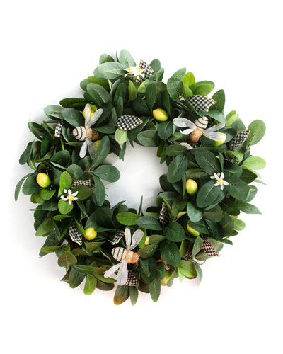 Queen Bee Lemon Wreath  24